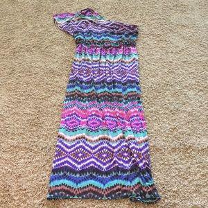 Tie Dye one shoulder dress